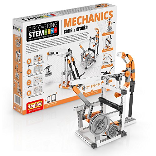 (Engino Discovering STEM Mechanics Cams & Cranks | 8 Working Models | Illustrated Instruction Manual | Theory & Facts | Experimental Activities | STEM Construction Kit)