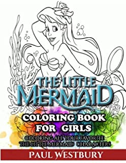 the little mermaid coloring book for girls coloring all your favorite the little mermaid characters