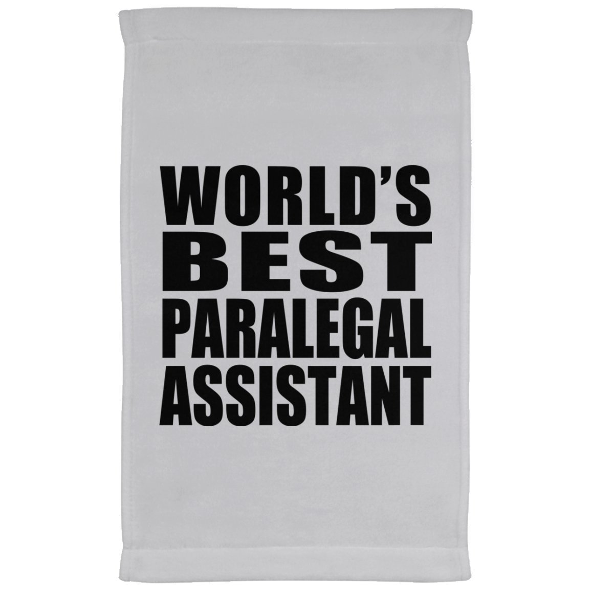Designsify World's Best Paralegal Assistant - Kitchen Towel, Microfiber Velour Towel, Best Gift for Birthday, Anniversary, Easter, Valentine's Mother's Father's Day