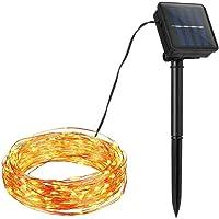 Iswell String Light, 39FT100LEDs Impermeable Al Aire Libre Solar Powered Fairy String Light Para DIY Fiesta de Halloween Decoración de Bodas de Navidad, Guirnalda Luces Exterior Solar