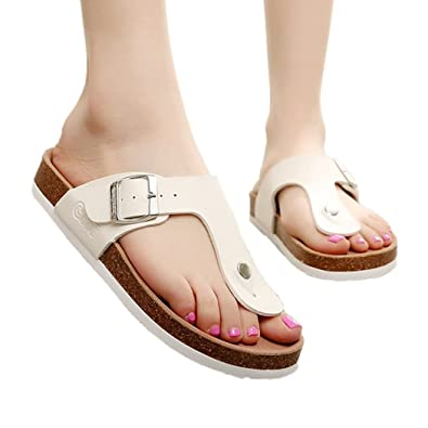 700063c4361428 Life Palaza Women s Buckle Cork Soft Footed Florida Gizeh Thong Sandals  Flip Flops Birko-Flor