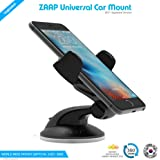 ZAAP® (USA) QUICKTOUCH Two Premium Car Mount mobile holder Universally Compatible for Car Windshield, Car Dashboard & Working Desks (3rd Generation upgrade-Made in KOREA, Black)