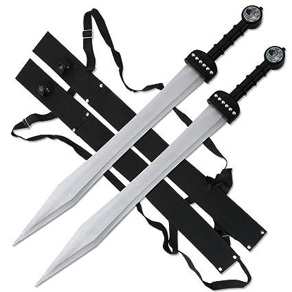 Amazon.com: Fantasy Espada Juego de 2 gladiador romano ...