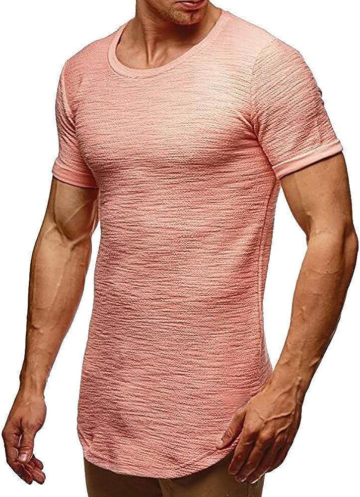 Camisa Hombre Blusa Suelta Casual Transpirable Top de Manga 3/4 Camisas Sin Cuello de Color Sólido Blusas de Trabajo S M L XL 2XL: Amazon.es: Ropa y accesorios