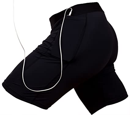 087ef10c0a0248 Amazon.com : THE II BRO Compression Shorts with Pockets for Running/Workout  : Sports & Outdoors