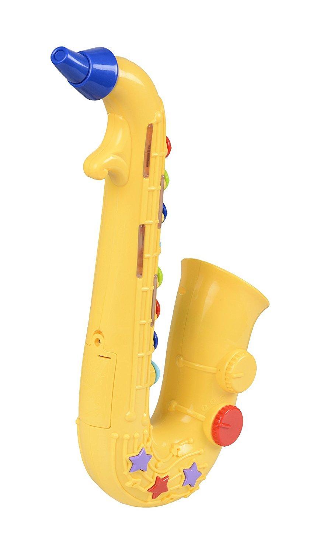 WinFun Kinder Saxophon Saxofon Spielzeug mit Soundeffekten Tröte Instrument Musik & Instrumente