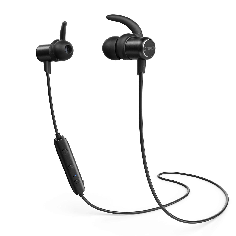 Anker SoundBuds Slim Bluetoothワイヤレスイヤホン(カナル型)【マグネット機能 / 防水規格IPX4 /内蔵マイク搭載】 iPhone、Android各種対応 (ブラック)