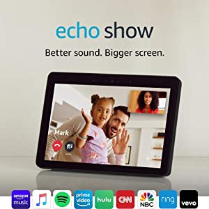 """Echo Show 10.1"""" HD smart display with Alexa – stay connected with video calling"""