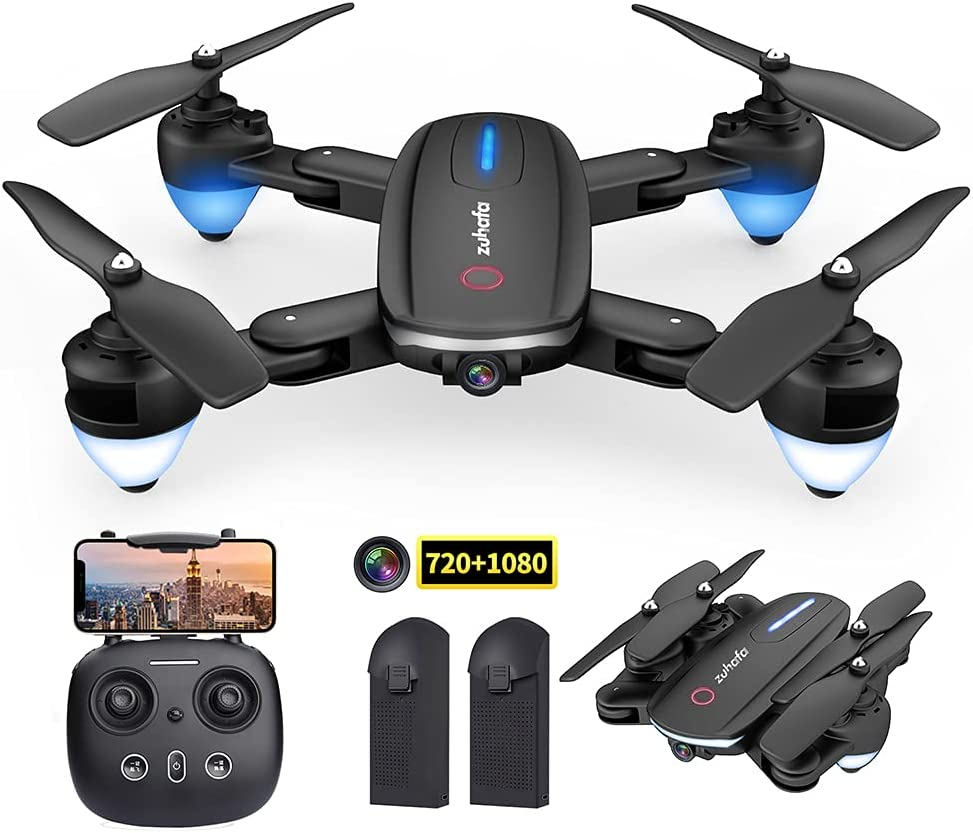 Zuhafa Drone T4 WiFi FPV RC with 1080P HD Camera for Kids and Adults