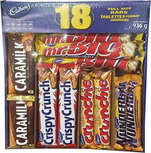 Assorted Chocolate Bars, Caramilk, Mr Big, Crispy Crunch, Crunchie, Wunderbar, 936g {Imported from Canada} ()