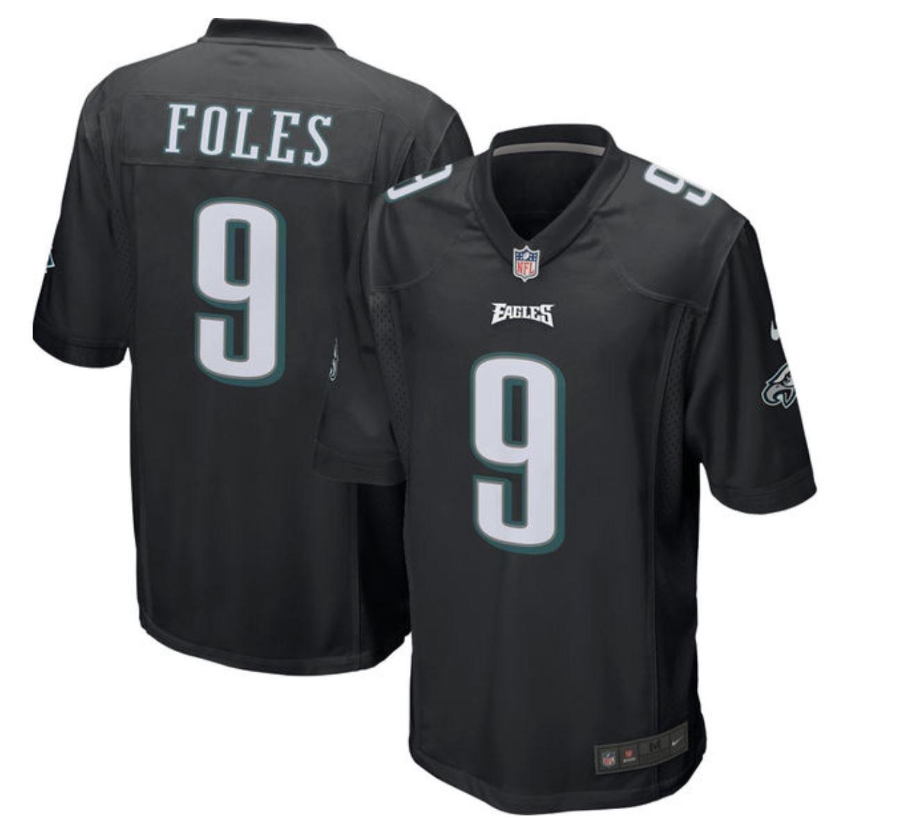 the best attitude d1a5d bf538 Nike Nick Foles Philadelphia Eagles Black Event Jersey ...