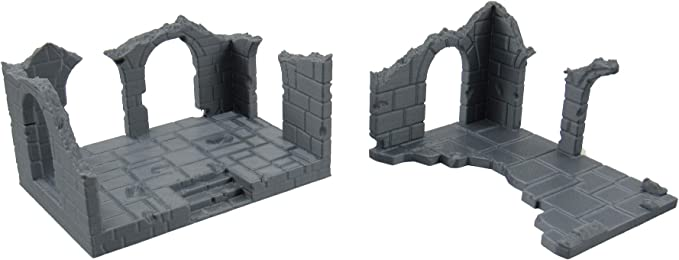EnderToys Brick Staircase 3D Printed and Paintable Terrain Scenery for Tabletop 28mm Miniatures Wargame