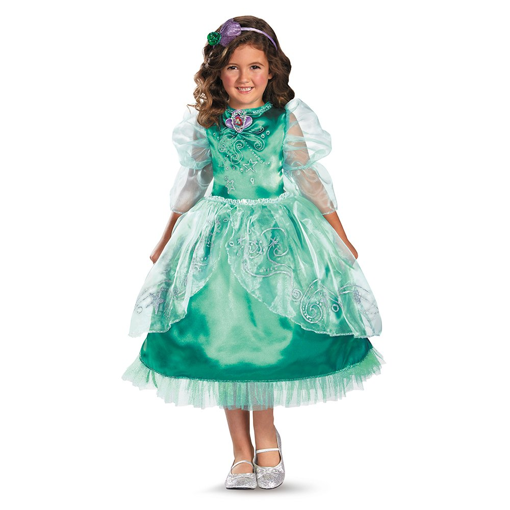 Amazon.com Disguise Disneyu0027s The Little Mermaid Ariel Sparkle Deluxe Girls Costume 3T-4T Toys u0026 Games  sc 1 st  Amazon.com & Amazon.com: Disguise Disneyu0027s The Little Mermaid Ariel Sparkle ...
