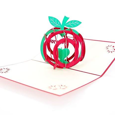 Amazon Paper Spiritz Pop Up Christmas Card 3d Laser Cut
