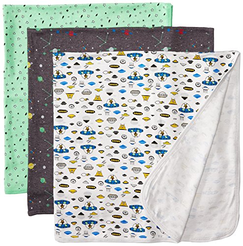 Rosie Pope Baby Boys Blankets 3 Pack, Space Theme, One Size