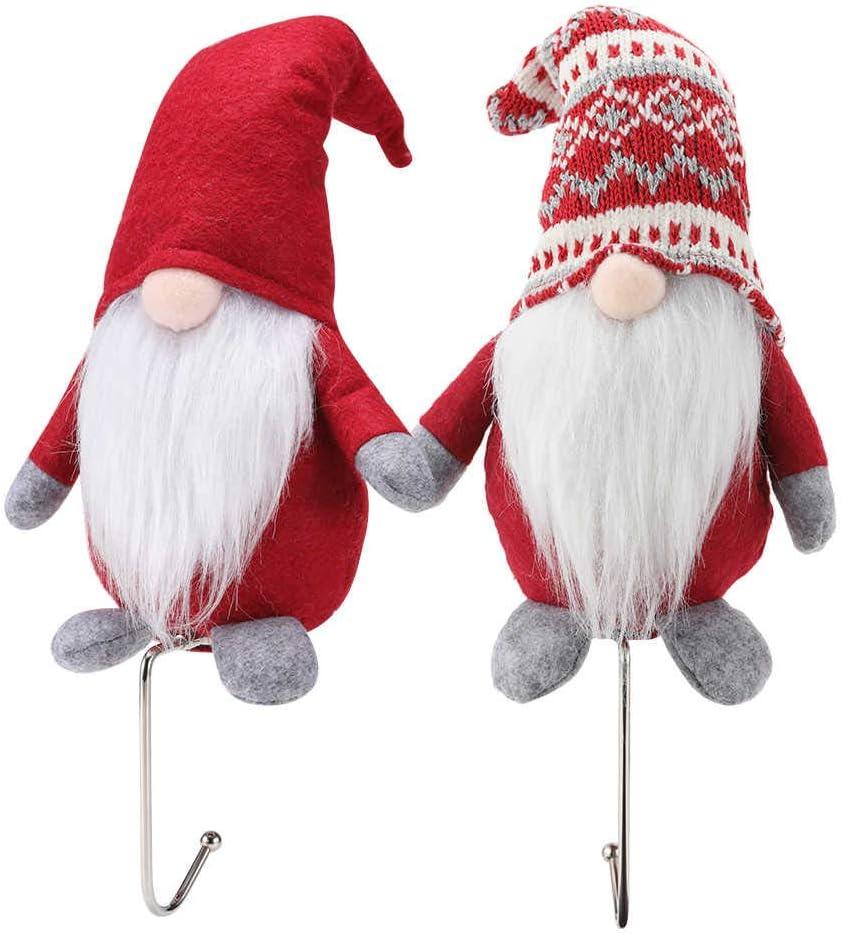 HEMOTON 4 Pcs Christmas Stocking Holders Hooks Mantel Hanger Purse Hook Long Handbag Hanger for Table Desk Creatiee Portable Bag Holder Under Counter Handbags Hook for Women Girl Gift