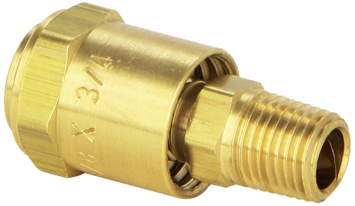EDGE INDUSTRIAL Brass Reusable Ferrule 1//4 Hose ID X 1//2 Hose OD