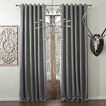 IYUEGO Wide Curtains 120Inch 300Inch For Large Windows Solid Faux Linen Classic Grommet Top Room Darkenning Draperies With Multi Size Custom 150 W