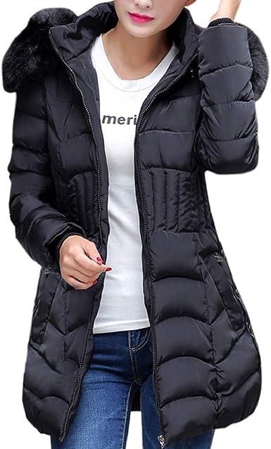 Femme Coton Down Long Gilets Chaud Veste Parka Manteaux à capuche Gilet Outerwear