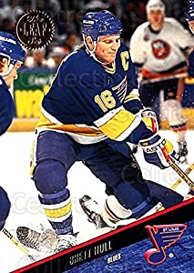 (CI) Brett Hull Hockey Card 1993-94 Leaf (base) 255 Brett Hull