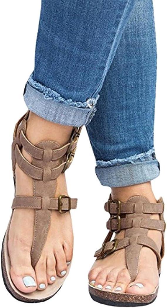 OYSOHE Neueste Damen Sandalen Mode SchnallenFlat Knöchel