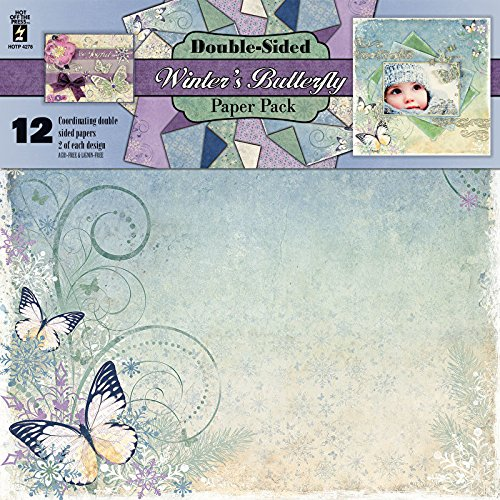 - Hot Off The Press Winter's Butterfly Double-Sided Paper Pack 12/Pkg, 12