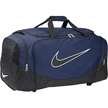 98b53051e57b Image Unavailable. Image not available for. Colour  Nike Synthetic 51 cms Midnight  Navy Black Black Gym Bag ...