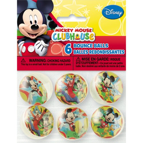 [Mickey Mouse Bouncy Ball Party Favors, 6ct] (White Theme Party Costumes Ideas)