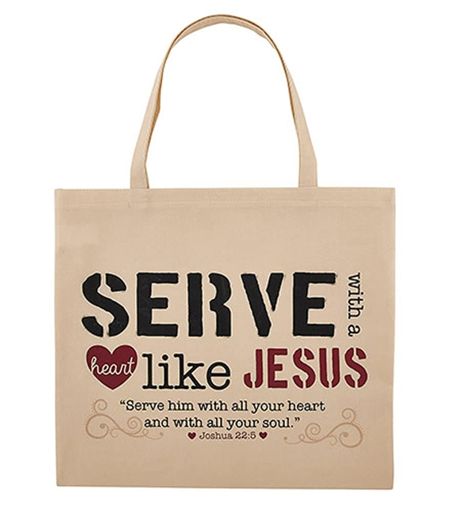 Serve with a Heart Like Jesusトートバッグ – 12 / Pk B07BR8ZCFC