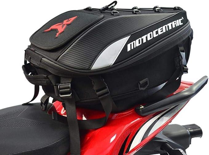 MOTOCENTRIC Zaino per Moto Locomotiva Zaino per Sedile Posteriore Borsa per Moto di Grande capacit/à 11-MC-0102