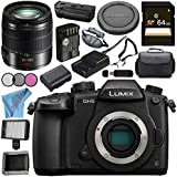 Panasonic Lumix DC-GH5 DC-GH5KBODY Mirrorless Micro Four Thirds Digital Camera Lumix G Vario 14-140mm f/3.5-5.6 ASPH. POWER O.I.S. Lens (Black) Bundle