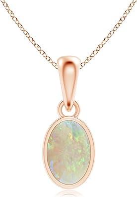 Angara.com 14k Or rose Ovale Opal