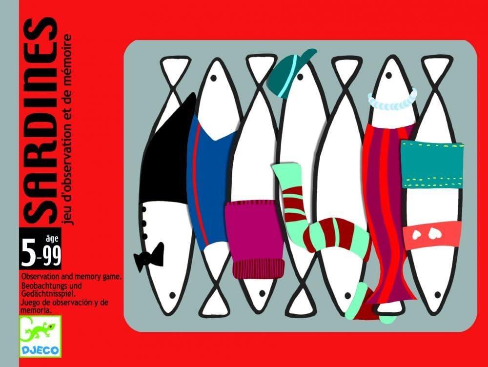 DJECO- Juegos de cartasJuegos de cartasDJECOCartas Sardines, Multicolor (36)