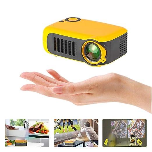 HWUKONG Mini proyector, corrección de distorsión Trapezoidal ...