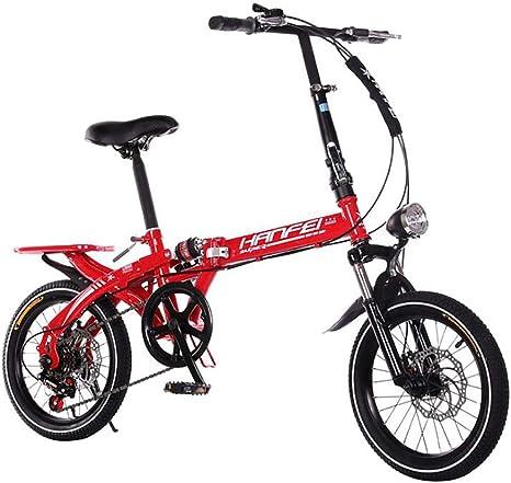 ANJING Bicicleta Plegable Ligera para Adultos, Bike de 6 ...