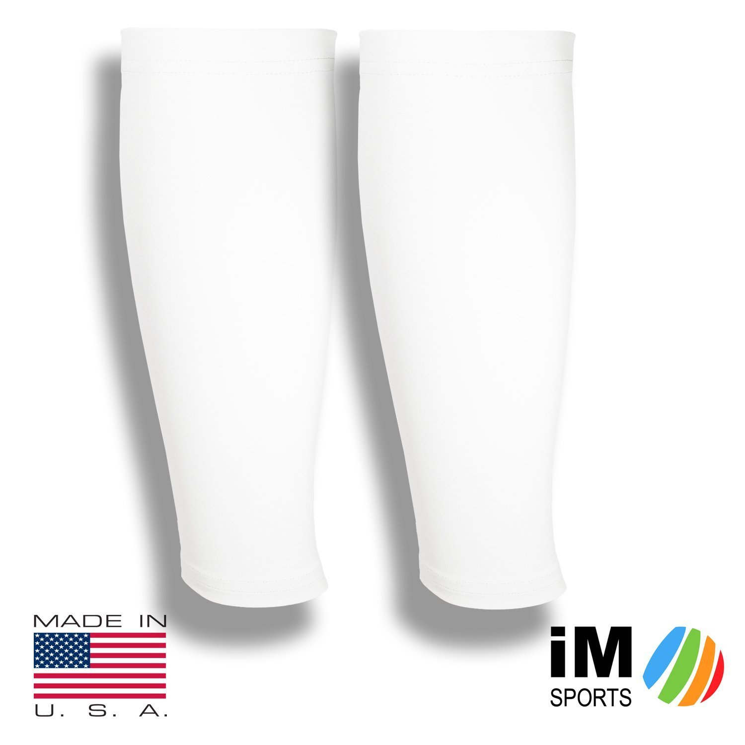 iM Sports CADENCE Cycling Calf Sleeves Made in USA - No Ugly Logos pair of cycling calf leg sleeves Wick Away Fabric