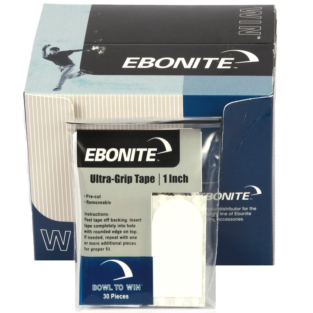 Ebonite Bowlers Tape , White, 1/2-Inch, 12 pack of 30 pieces by Ebonite