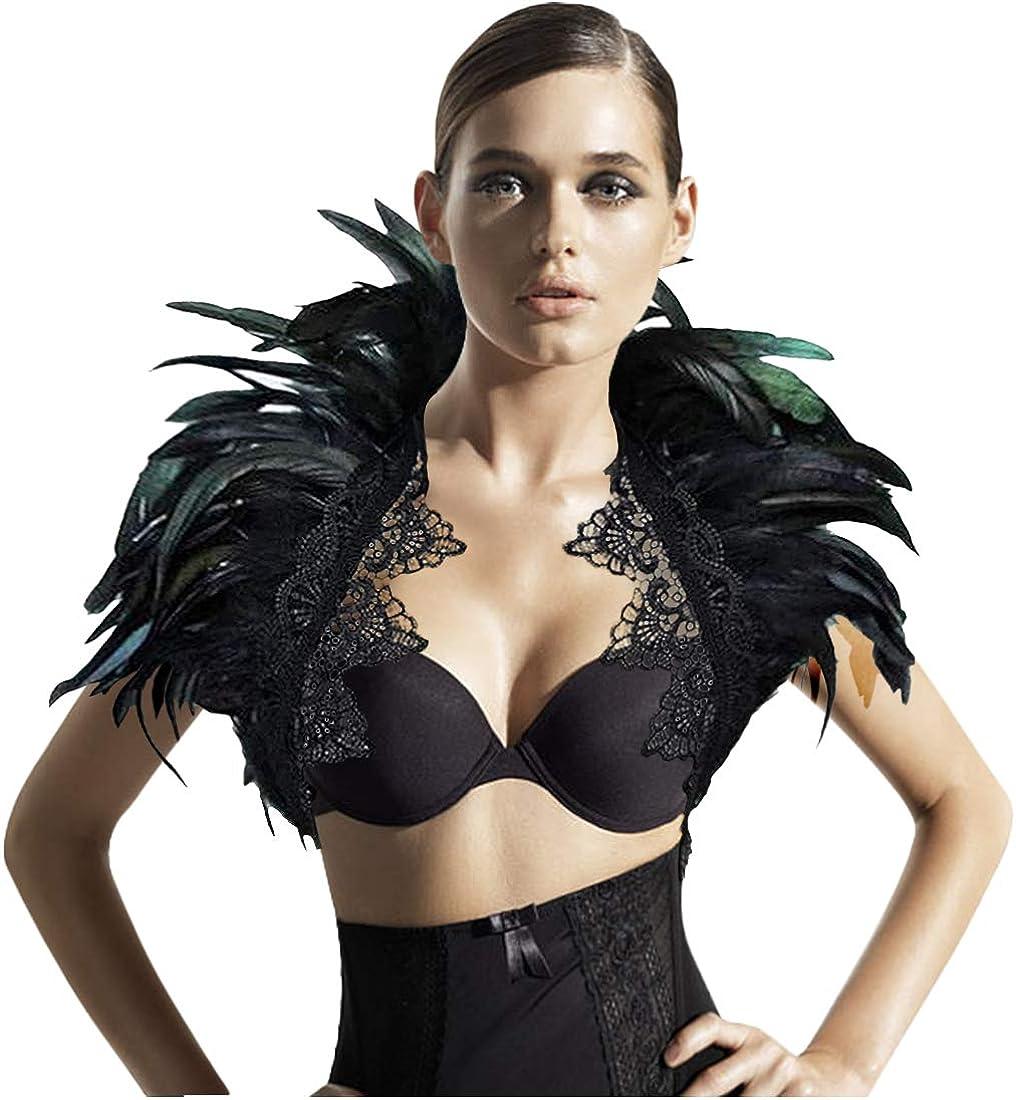 L'vow Black Feather Shrug...