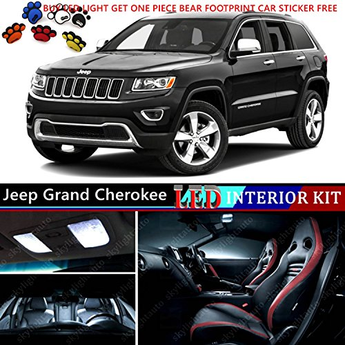 Jeep Grand Cherokee Glove Box (16pcs LED Premium Xenon White Light Interior Package Deal for Jeep Grand Cherokee 2011-2015)
