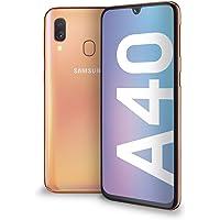 "Samsung Galaxy A40 Display 5.9"", 64 GB Espandibili, RAM 4 GB, Batteria 3100 mAh, 4G, Dual SIM Smartphone, Android 9 Pie, (2019) [Versione Italiana], Coral"
