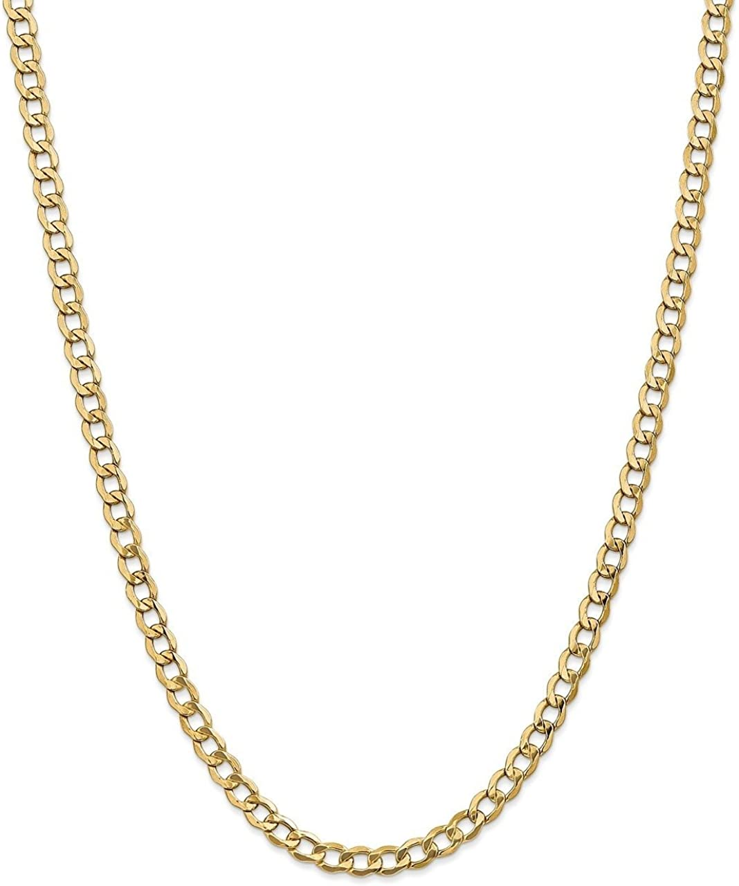 Lex /& Lu Leslies 14k Yellow Gold 5.25mm Semi Solid Curb Link Chain Necklace or Bracelet