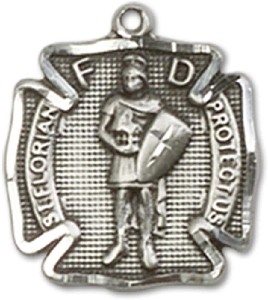 18 Chain Jewels Obsession St Sterling Silver St Florian Pendant Florian Pendant Made In USA