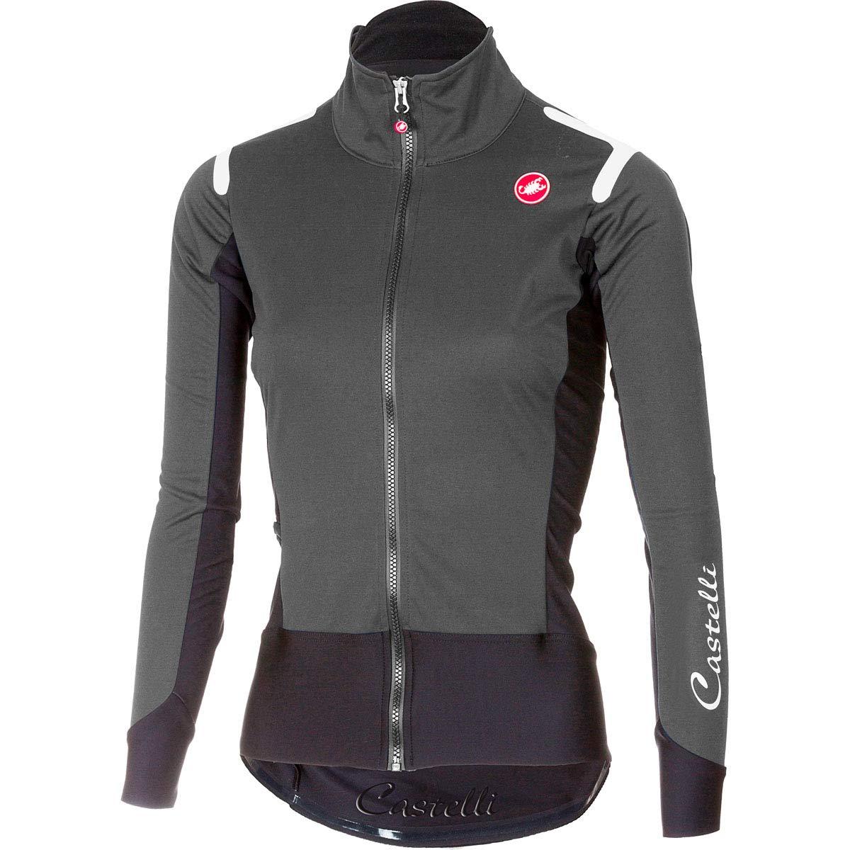Castelli 2017レディースアルファRos長袖サイクリングジャージー – a17539 B07GXLHBS2 Medium|Dark Gray/Black Dark Gray/Black Medium