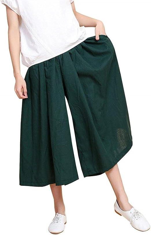 Pantalones Palazzo Mujer Verano Fashion Anchas Culotte Mujer ...