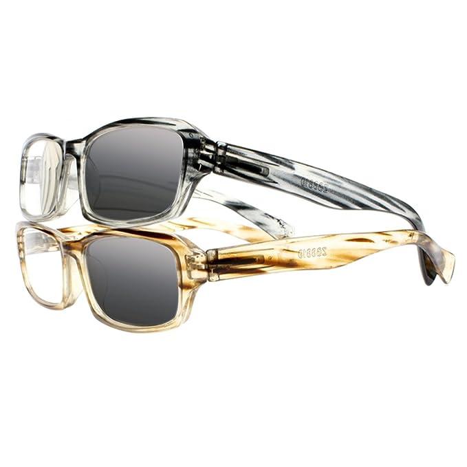 abb8f257015 Retro Vintage Striped Transition Photochromic Sunglasses Sun Reading  Glasses Readers (All 2 Colors