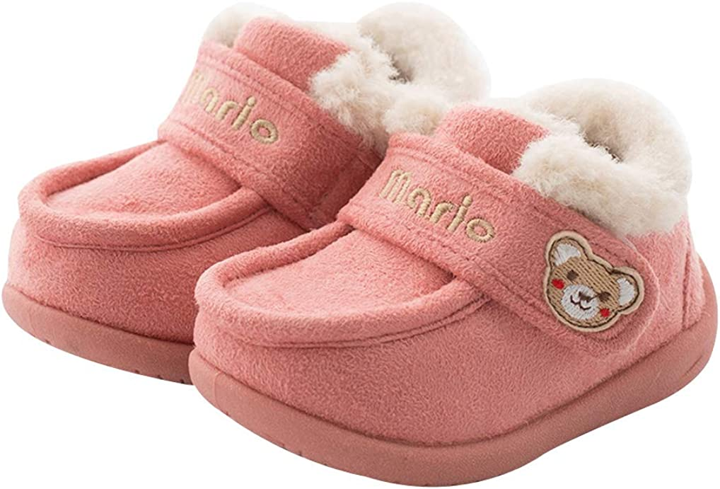 Cattior Kids Winter Warm House Shoes Walking Shoes Indoor Outdoor Toddler Little Kid