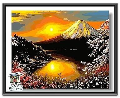 Amazon Artomoアトモパズル油絵フレーム付き数字 油絵 Diy