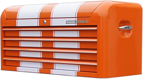 OEMTOOLS 24618 Orange and White 41 4-Drawer Contour Top Chest