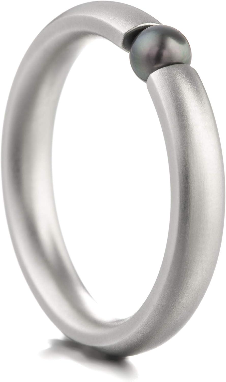 Anillo Heideman Ring Ladies Globe S Fabricado en Acero Inoxidable Color Plata Mate para Damas con Swarovski Blanco Perla o Gris.