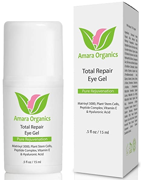 Amara Organics Eye Cream for Dark Circles and Puffiness with Peptides, .5 fl. oz.